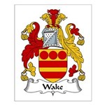 Wake Family Crest Small Poster