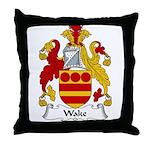 Wake Family Crest Throw Pillow