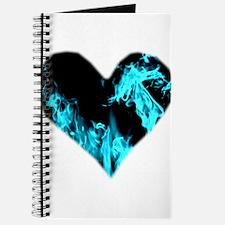 Blue Heart 'a Flame Journal