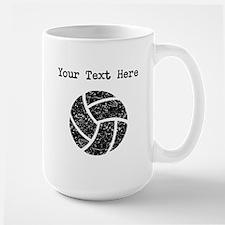 Distressed Volleyball (Custom) Mugs