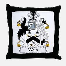 Waite Family Crest Throw Pillow