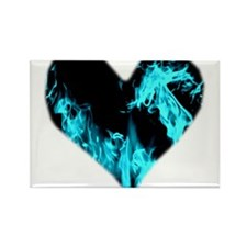 Blue Heart 'a Flame Magnets