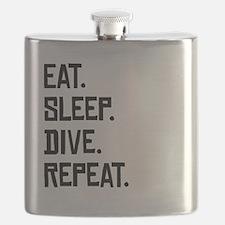 Eat Sleep Dive Repeat Flask