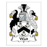Wait Family Crest Small Poster