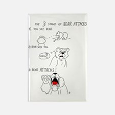 Bear Attacks Comic Rectangle Magnet