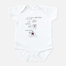 Bear Attacks Comic Infant Bodysuit