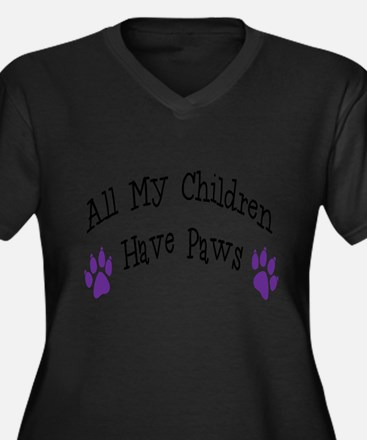 All My Children Have Paws Plus Size T-Shirt