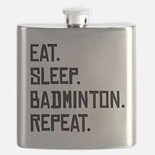 Eat Sleep Badminton Repeat Flask