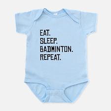 Eat Sleep Badminton Repeat Body Suit