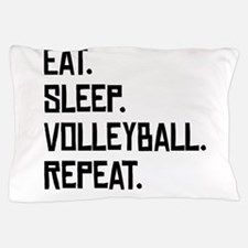 Eat Sleep Volleyball Repeat Pillow Case