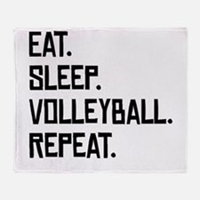 Eat Sleep Volleyball Repeat Throw Blanket