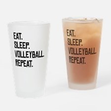Eat Sleep Volleyball Repeat Drinking Glass