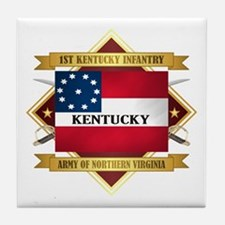 1st Kentucky Infantry Tile Coaster