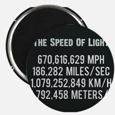 The Speed Of Light - Scientific Art Poster Magnets