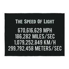 The Speed Of Light - Scientific Art 5'x7'Area Rug