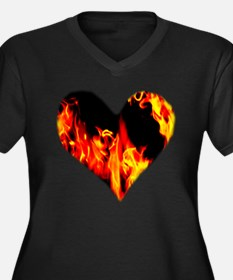 Red Yellow Orange Heart 'a Flame Plus Size T-Shirt