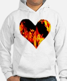 Red Yellow Orange Heart 'a Flame Hoodie