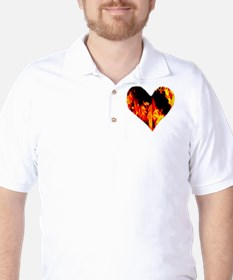 Red Yellow Orange Heart 'a Flame T-Shirt