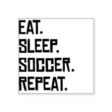 Eat Sleep Soccer Repeat Sticker