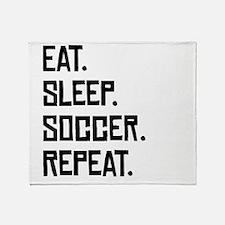 Eat Sleep Soccer Repeat Throw Blanket
