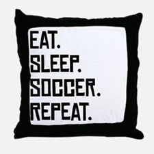Eat Sleep Soccer Repeat Throw Pillow