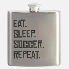 Eat Sleep Soccer Repeat Flask