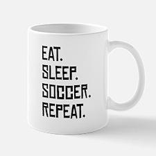 Eat Sleep Soccer Repeat Mugs
