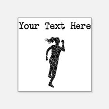 Distressed Runner Silhouette (Custom) Sticker