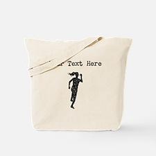 Distressed Runner Silhouette (Custom) Tote Bag