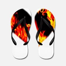 Red Yellow Orange Heart 'a Flame Flip Flops