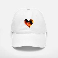 Red Yellow Orange Heart 'a Flame Baseball Baseball Cap