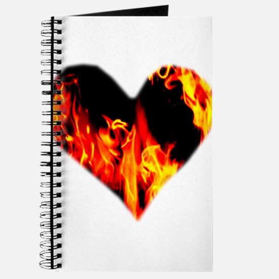 Red Yellow Orange Heart 'a Flame Journal