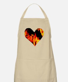 Red Yellow Orange Heart 'a Flame Apron