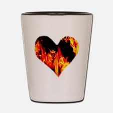 Red Yellow Orange Heart 'a Flame Shot Glass
