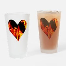 Red Yellow Orange Heart 'a Flame Drinking Glass