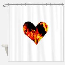 Red Yellow Orange Heart 'a Flame Shower Curtain