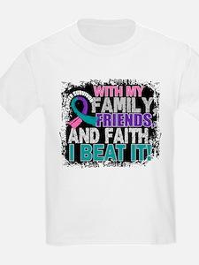 Thyroid Cancer Survivor FamilyF T-Shirt