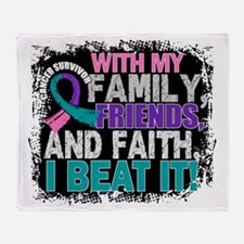 Thyroid Cancer Survivor FamilyFriend Throw Blanket