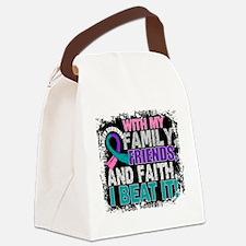 Thyroid Cancer Survivor FamilyFri Canvas Lunch Bag