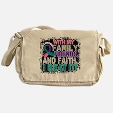 Thyroid Cancer Survivor FamilyFriend Messenger Bag