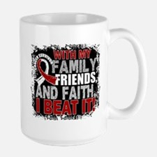 Throat Cancer Survivor FamilyFriendsFai Large Mug