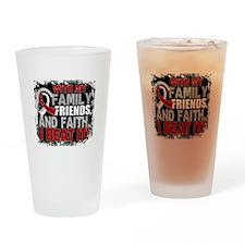 Throat Cancer Survivor FamilyFriend Drinking Glass