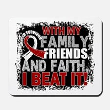 Throat Cancer Survivor FamilyFriendsFait Mousepad