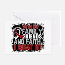Throat Cancer Survivor FamilyFriends Greeting Card