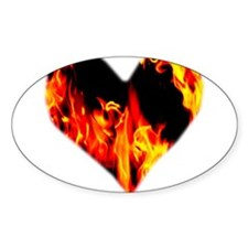 Red Yellow Orange Heart 'a Flame Decal