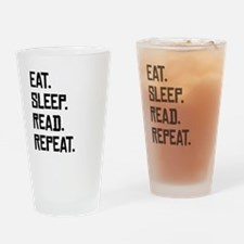 Eat Sleep Read Repeat Drinking Glass