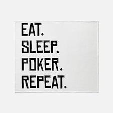 Eat Sleep Poker Repeat Throw Blanket