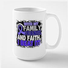Stomach Cancer Survivor FamilyFriendsFa Large Mug