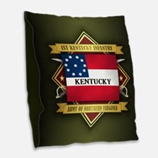 1st Kentucky Infantry Burlap Throw Pillow