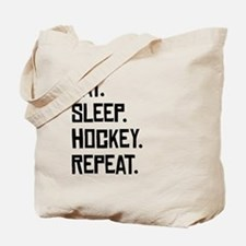 Eat Sleep Hockey Repeat Tote Bag
